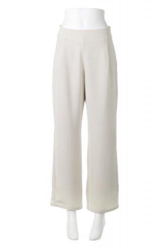 海外ファッションや大人カジュアルに最適なインポートセレクトアイテムのStraight Wide Leg Pants 裏地付き・ストレートワイドパンツ