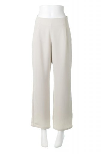 Straight Wide Leg Pants 裏地付き・ストレートワイドパンツ / 大人カジュアルに最適な海外ファッションが得意な福島市のセレクトショップbloom