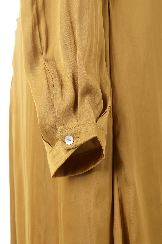 TwistedFrontDetailMaxiDressフロントツイスト・サテンマキシワンピースfromL.A.大人カジュアルに最適な海外ファッションのothers(その他インポートアイテム)のワンピースやマキシワンピース。大人の雰囲気を醸し出すサテンの長袖ワンピース。上品な光沢のサテン地はその場を華やかにしてくれます。/main-12