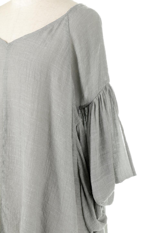 ButterflySleeveCocoonBlouseバタフライスリーブ・コクーンブラウスfromL.A.大人カジュアルに最適な海外ファッションのothers(その他インポートアイテム)のトップスやシャツ・ブラウス。透け感が人気のシアー素材のカジュアルブラウス。ヒラヒラ揺れる袖がとても可愛いデザインです。/main-7
