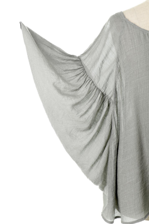 ButterflySleeveCocoonBlouseバタフライスリーブ・コクーンブラウスfromL.A.大人カジュアルに最適な海外ファッションのothers(その他インポートアイテム)のトップスやシャツ・ブラウス。透け感が人気のシアー素材のカジュアルブラウス。ヒラヒラ揺れる袖がとても可愛いデザインです。/main-8