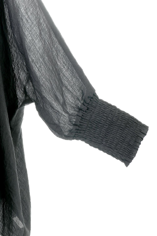 SmockedSleeveWideBlouseドルマンスリーブ・ワイドブラウスfromL.A.大人カジュアルに最適な海外ファッションのothers(その他インポートアイテム)のトップスやシャツ・ブラウス。春夏におススメのシアー素材のドルマンブラウス。カジュアルなシルエットですが、ブラックなら子供っぽくなりません。/main-10