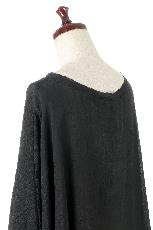 SmockedSleeveWideBlouseドルマンスリーブ・ワイドブラウスfromL.A.大人カジュアルに最適な海外ファッションのothers(その他インポートアイテム)のトップスやシャツ・ブラウス。春夏におススメのシアー素材のドルマンブラウス。カジュアルなシルエットですが、ブラックなら子供っぽくなりません。/main-8