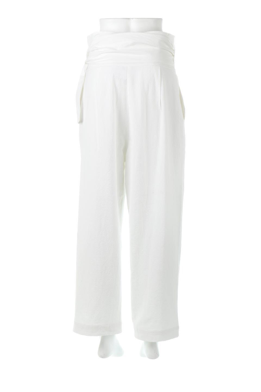 LinenBlendWideLegWrapPants麻混・ワイドラップパンツfromL.A.大人カジュアルに最適な海外ファッションのothers(その他インポートアイテム)のボトムやパンツ。ウエストのリボンがアクセントのラップパンツ。清潔感のある麻混の生地は張りがあり、細見えのシルエットが崩れません。/main-4