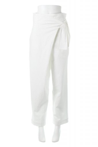 Linen Blend Wide Leg Wrap Pants 麻混・ワイドラップパンツ from L.A. / 大人カジュアルに最適な海外ファッションが得意な福島市のセレクトショップbloom