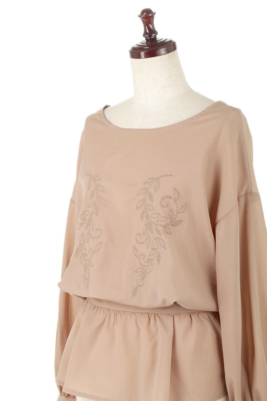 FloralEmbroideredSemiSheerBlouse花柄刺しゅう・セミシアーブラウス大人カジュアルに最適な海外ファッションのothers(その他インポートアイテム)のトップスやシャツ・ブラウス。同色の花柄刺しゅうが可愛いシアーブラウス。ウエストの細見えデザインでパンツやスカートなど、ボトムを選ばず合わせやすいアイテムです。/main-22