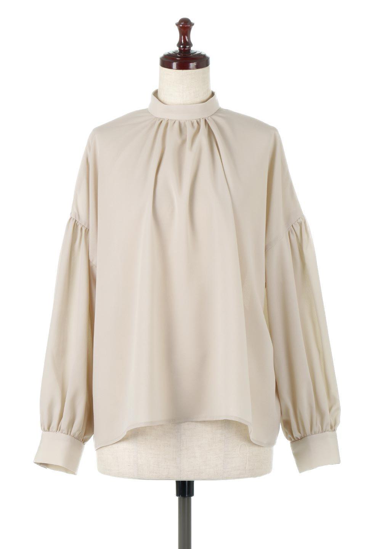 HighNeckGatheredBlouseハイネック・ギャザーブラウス大人カジュアルに最適な海外ファッションのothers(その他インポートアイテム)のトップスやシャツ・ブラウス。春にぴったりのハイネックブラウス。首元のギャザーから伸びるドレープが素敵な長袖ブラウス。/main-10