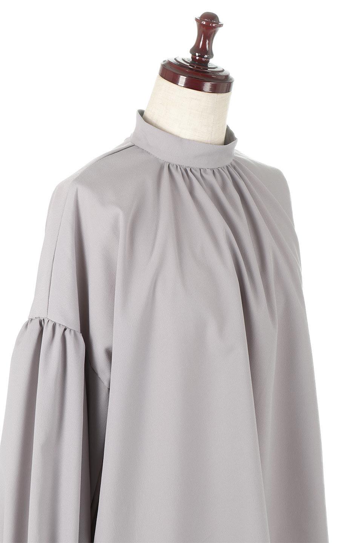 HighNeckGatheredBlouseハイネック・ギャザーブラウス大人カジュアルに最適な海外ファッションのothers(その他インポートアイテム)のトップスやシャツ・ブラウス。春にぴったりのハイネックブラウス。首元のギャザーから伸びるドレープが素敵な長袖ブラウス。/main-20