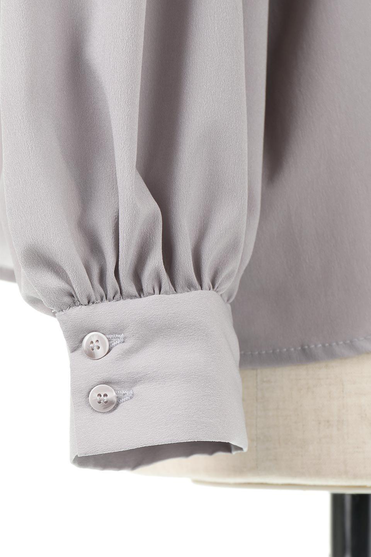 HighNeckGatheredBlouseハイネック・ギャザーブラウス大人カジュアルに最適な海外ファッションのothers(その他インポートアイテム)のトップスやシャツ・ブラウス。春にぴったりのハイネックブラウス。首元のギャザーから伸びるドレープが素敵な長袖ブラウス。/main-25