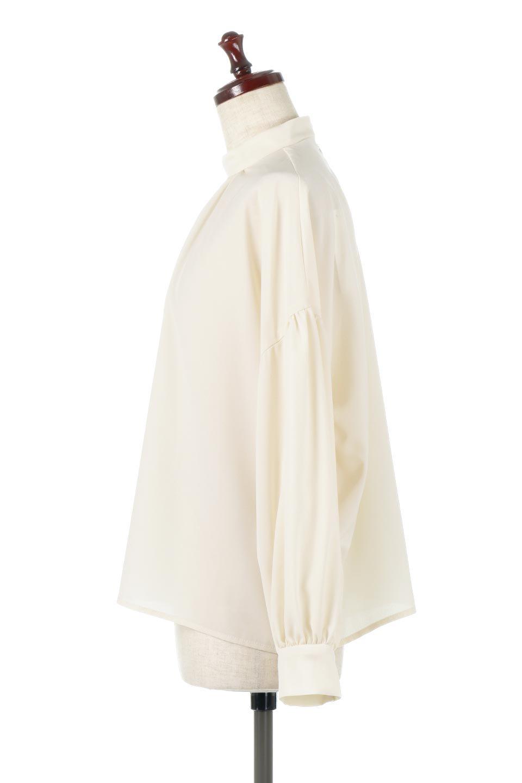 HighNeckGatheredBlouseハイネック・ギャザーブラウス大人カジュアルに最適な海外ファッションのothers(その他インポートアイテム)のトップスやシャツ・ブラウス。春にぴったりのハイネックブラウス。首元のギャザーから伸びるドレープが素敵な長袖ブラウス。/main-7