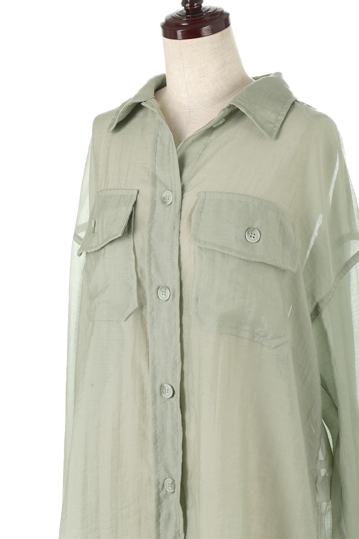 SheeredCPOBigShirtsCPO・シアービッグシャツ大人カジュアルに最適な海外ファッションのothers(その他インポートアイテム)のトップスやシャツ・ブラウス。大人気。透け感のあるシアー素材を使用したビッグシャツ。/main-10