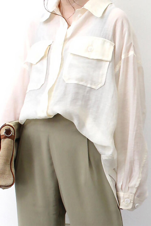 SheeredCPOBigShirtsCPO・シアービッグシャツ大人カジュアルに最適な海外ファッションのothers(その他インポートアイテム)のトップスやシャツ・ブラウス。大人気。透け感のあるシアー素材を使用したビッグシャツ。/main-18