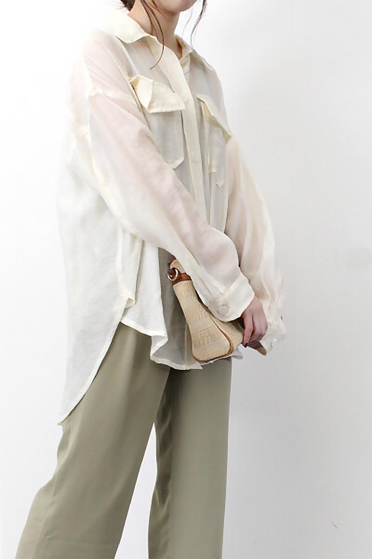 SheeredCPOBigShirtsCPO・シアービッグシャツ大人カジュアルに最適な海外ファッションのothers(その他インポートアイテム)のトップスやシャツ・ブラウス。大人気。透け感のあるシアー素材を使用したビッグシャツ。/main-20