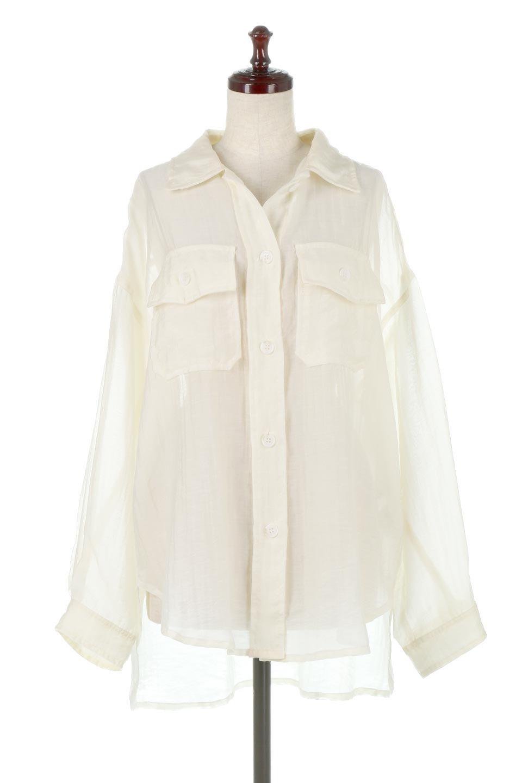 SheeredCPOBigShirtsCPO・シアービッグシャツ大人カジュアルに最適な海外ファッションのothers(その他インポートアイテム)のトップスやシャツ・ブラウス。大人気。透け感のあるシアー素材を使用したビッグシャツ。/main-5