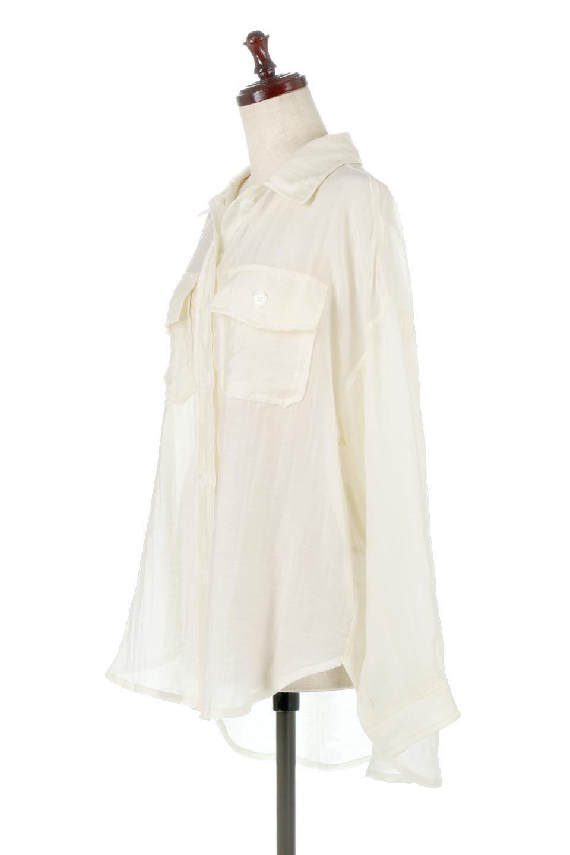 SheeredCPOBigShirtsCPO・シアービッグシャツ大人カジュアルに最適な海外ファッションのothers(その他インポートアイテム)のトップスやシャツ・ブラウス。大人気。透け感のあるシアー素材を使用したビッグシャツ。/main-6