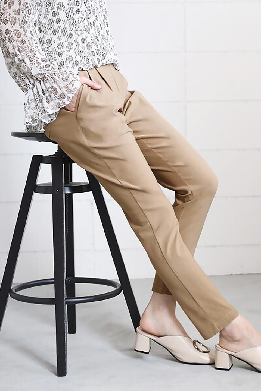 Hi-StretchTuckedPantsハイストレッチ・美脚パンツ大人カジュアルに最適な海外ファッションのothers(その他インポートアイテム)のボトムやパンツ。大人気のストレッチ美脚パンツが素材を新たに新入荷。驚きの履き心地を実現、リピート確実の超おすすめパンツ。/main-25