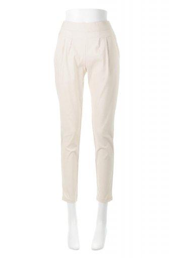 海外ファッションや大人カジュアルに最適なインポートセレクトアイテムのHi-Stretch Tucked Pants ハイストレッチ・美脚パンツ
