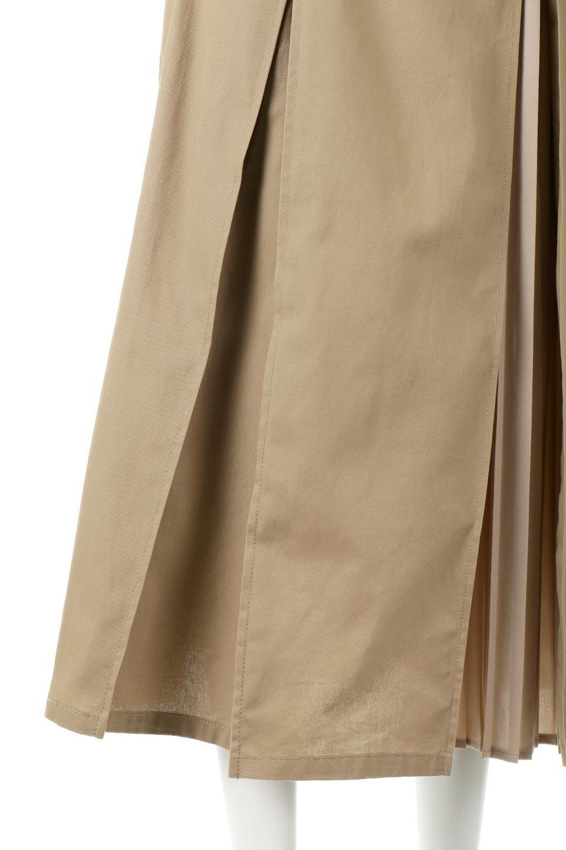 PleatedPanelFlareSkirtプリーツ切り替え・フレアスカート大人カジュアルに最適な海外ファッションのothers(その他インポートアイテム)のボトムやスカート。タックの合間からプリーツが覗く、アシメデザインのフレアスカート。左右で深さの違うタックとプリーツの切り替えがアクセント。/main-21