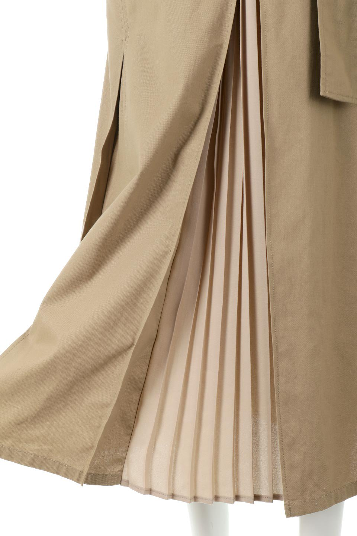 PleatedPanelFlareSkirtプリーツ切り替え・フレアスカート大人カジュアルに最適な海外ファッションのothers(その他インポートアイテム)のボトムやスカート。タックの合間からプリーツが覗く、アシメデザインのフレアスカート。左右で深さの違うタックとプリーツの切り替えがアクセント。/main-22