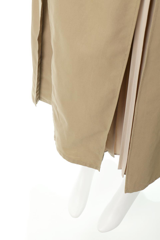 PleatedPanelFlareSkirtプリーツ切り替え・フレアスカート大人カジュアルに最適な海外ファッションのothers(その他インポートアイテム)のボトムやスカート。タックの合間からプリーツが覗く、アシメデザインのフレアスカート。左右で深さの違うタックとプリーツの切り替えがアクセント。/main-23