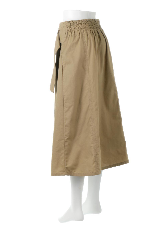 PleatedPanelFlareSkirtプリーツ切り替え・フレアスカート大人カジュアルに最適な海外ファッションのothers(その他インポートアイテム)のボトムやスカート。タックの合間からプリーツが覗く、アシメデザインのフレアスカート。左右で深さの違うタックとプリーツの切り替えがアクセント。/main-3