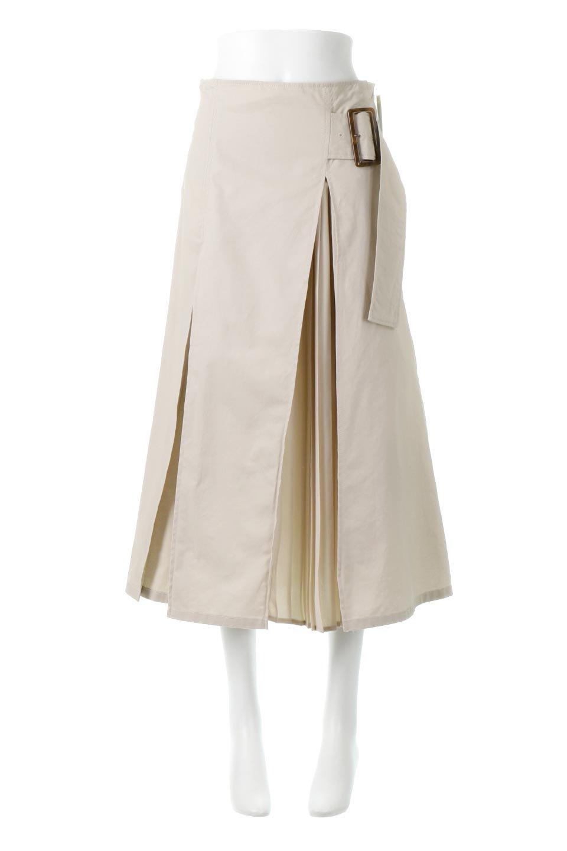 PleatedPanelFlareSkirtプリーツ切り替え・フレアスカート大人カジュアルに最適な海外ファッションのothers(その他インポートアイテム)のボトムやスカート。タックの合間からプリーツが覗く、アシメデザインのフレアスカート。左右で深さの違うタックとプリーツの切り替えがアクセント。/main-5