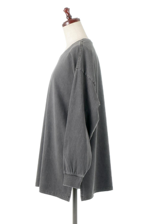 SideSlitLongSleeveBigTeeサイドスリット・ビッグロンT大人カジュアルに最適な海外ファッションのothers(その他インポートアイテム)のトップスやカットソー。ヘビーウエイトでルーズ&ビッグなロンT。普通のTシャツよりも肉厚で、しっかりした素材を使用しています。/main-2