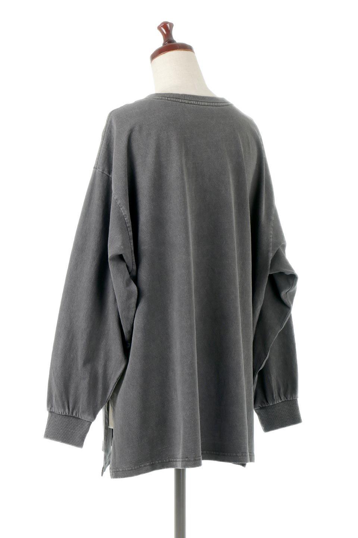 SideSlitLongSleeveBigTeeサイドスリット・ビッグロンT大人カジュアルに最適な海外ファッションのothers(その他インポートアイテム)のトップスやカットソー。ヘビーウエイトでルーズ&ビッグなロンT。普通のTシャツよりも肉厚で、しっかりした素材を使用しています。/main-3