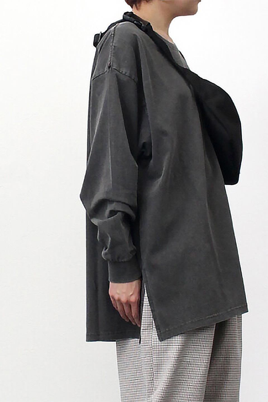 SideSlitLongSleeveBigTeeサイドスリット・ビッグロンT大人カジュアルに最適な海外ファッションのothers(その他インポートアイテム)のトップスやカットソー。ヘビーウエイトでルーズ&ビッグなロンT。普通のTシャツよりも肉厚で、しっかりした素材を使用しています。/main-33
