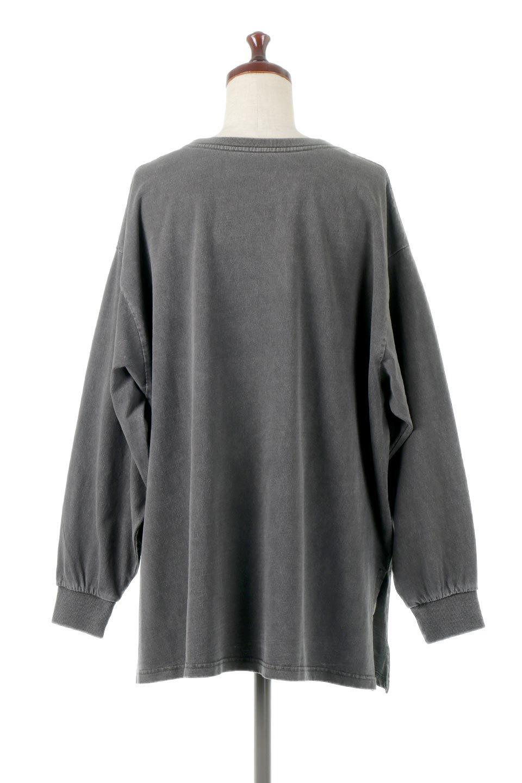 SideSlitLongSleeveBigTeeサイドスリット・ビッグロンT大人カジュアルに最適な海外ファッションのothers(その他インポートアイテム)のトップスやカットソー。ヘビーウエイトでルーズ&ビッグなロンT。普通のTシャツよりも肉厚で、しっかりした素材を使用しています。/main-4