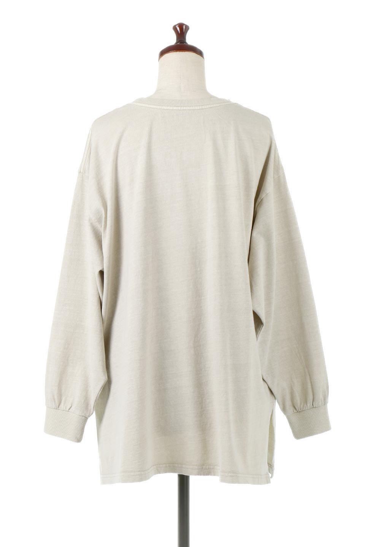 SideSlitLongSleeveBigTeeサイドスリット・ビッグロンT大人カジュアルに最適な海外ファッションのothers(その他インポートアイテム)のトップスやカットソー。ヘビーウエイトでルーズ&ビッグなロンT。普通のTシャツよりも肉厚で、しっかりした素材を使用しています。/main-9