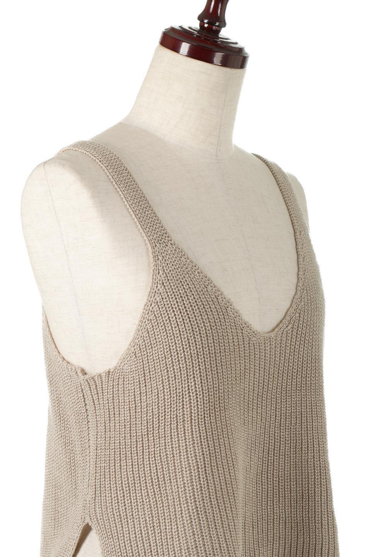 SideSlitKnitCamisoleサイドスリット・ニットキャミソール大人カジュアルに最適な海外ファッションのothers(その他インポートアイテム)のトップスやニット・セーター。ミニマルなデザインが可愛いニットのキャミソール。風通しの良い肩畦編みで夏まで楽しめるアイテムです。/main-11