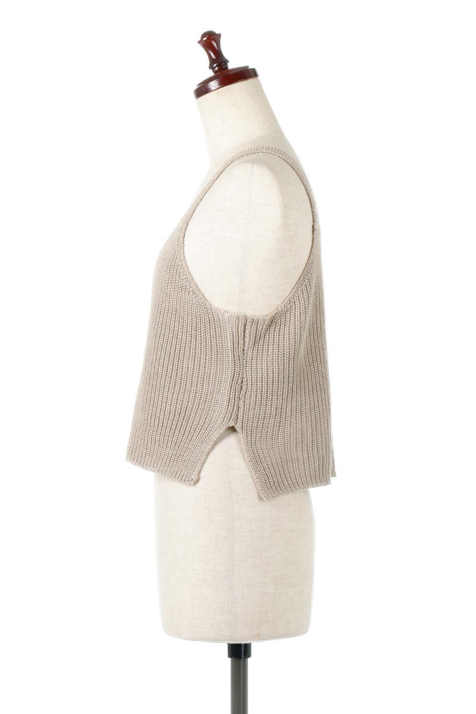 SideSlitKnitCamisoleサイドスリット・ニットキャミソール大人カジュアルに最適な海外ファッションのothers(その他インポートアイテム)のトップスやニット・セーター。ミニマルなデザインが可愛いニットのキャミソール。風通しの良い肩畦編みで夏まで楽しめるアイテムです。/main-7
