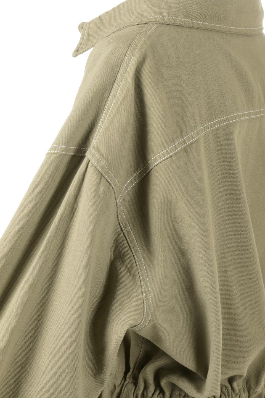 TieWaistStitchedSafariShirt配色ステッチ・サファリシャツジャケット大人カジュアルに最適な海外ファッションのothers(その他インポートアイテム)のトップスやシャツ・ブラウス。配色ステッチがポイント。今年人気のサファリシャツジャケット。/main-18