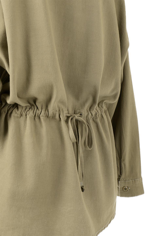 TieWaistStitchedSafariShirt配色ステッチ・サファリシャツジャケット大人カジュアルに最適な海外ファッションのothers(その他インポートアイテム)のトップスやシャツ・ブラウス。配色ステッチがポイント。今年人気のサファリシャツジャケット。/main-20