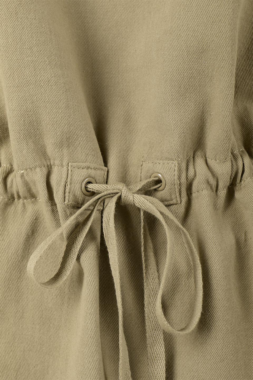 TieWaistStitchedSafariShirt配色ステッチ・サファリシャツジャケット大人カジュアルに最適な海外ファッションのothers(その他インポートアイテム)のトップスやシャツ・ブラウス。配色ステッチがポイント。今年人気のサファリシャツジャケット。/main-21