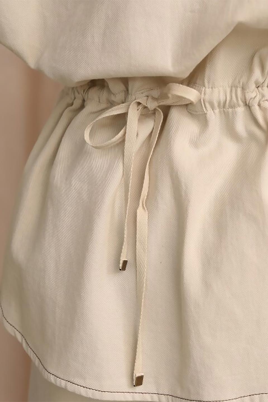 TieWaistStitchedSafariShirt配色ステッチ・サファリシャツジャケット大人カジュアルに最適な海外ファッションのothers(その他インポートアイテム)のトップスやシャツ・ブラウス。配色ステッチがポイント。今年人気のサファリシャツジャケット。/main-30