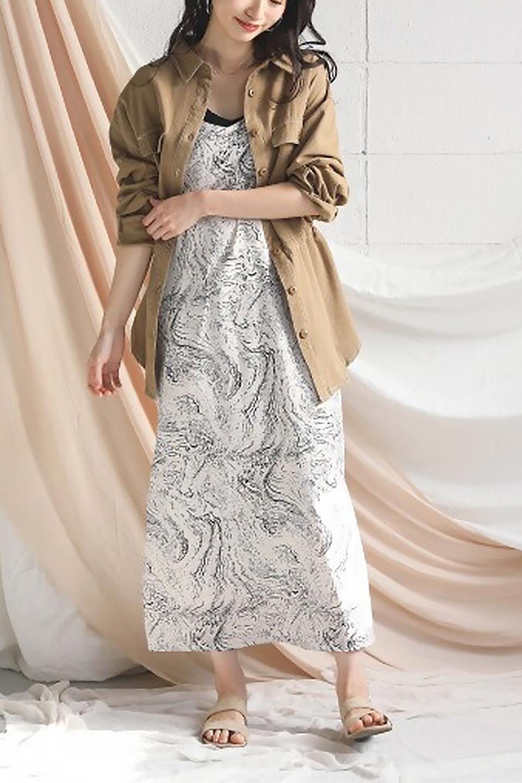 TieWaistStitchedSafariShirt配色ステッチ・サファリシャツジャケット大人カジュアルに最適な海外ファッションのothers(その他インポートアイテム)のトップスやシャツ・ブラウス。配色ステッチがポイント。今年人気のサファリシャツジャケット。/main-34