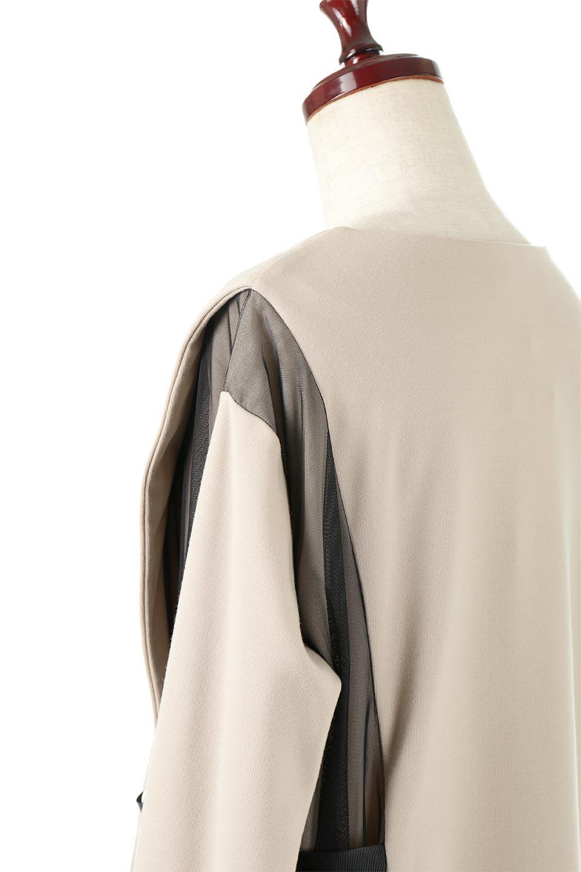 SideTullePullOverTopサイドチュール・プルオーバー大人カジュアルに最適な海外ファッションのothers(その他インポートアイテム)のトップスやカットソー。柔らかい風合いのチュールレースがアクセントのプルオーバートップス。丈も少し長めな所も今年のトレンドを意識したデザインで人気のアイテムです。/main-12