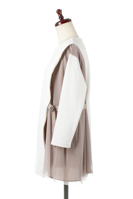 SideTullePullOverTopサイドチュール・プルオーバー大人カジュアルに最適な海外ファッションのothers(その他インポートアイテム)のトップスやカットソー。柔らかい風合いのチュールレースがアクセントのプルオーバートップス。丈も少し長めな所も今年のトレンドを意識したデザインで人気のアイテムです。/main-2