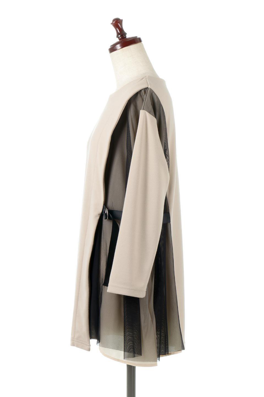 SideTullePullOverTopサイドチュール・プルオーバー大人カジュアルに最適な海外ファッションのothers(その他インポートアイテム)のトップスやカットソー。柔らかい風合いのチュールレースがアクセントのプルオーバートップス。丈も少し長めな所も今年のトレンドを意識したデザインで人気のアイテムです。/main-7