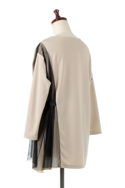 SideTullePullOverTopサイドチュール・プルオーバー大人カジュアルに最適な海外ファッションのothers(その他インポートアイテム)のトップスやカットソー。柔らかい風合いのチュールレースがアクセントのプルオーバートップス。丈も少し長めな所も今年のトレンドを意識したデザインで人気のアイテムです。/main-8