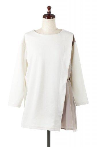 海外ファッションや大人カジュアルに最適なインポートセレクトアイテムのSide Tulle Pull Over Top サイドチュール・プルオーバー