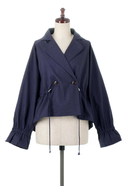 WaistTieShortTrenchJacketウエストドロスト・ショートトレンチ大人カジュアルに最適な海外ファッションのothers(その他インポートアイテム)のトップスやシャツ・ブラウス。ボリューミーな袖とコンパクトな丈感が好バランスなデザインのショートトレンチジャケット。肩線を落としたショルダーや抜き襟でゆったり羽織れるラフなシルエットが今年顔。/main-10
