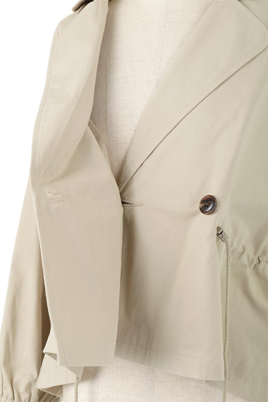 WaistTieShortTrenchJacketウエストドロスト・ショートトレンチ大人カジュアルに最適な海外ファッションのothers(その他インポートアイテム)のトップスやシャツ・ブラウス。ボリューミーな袖とコンパクトな丈感が好バランスなデザインのショートトレンチジャケット。肩線を落としたショルダーや抜き襟でゆったり羽織れるラフなシルエットが今年顔。/main-24