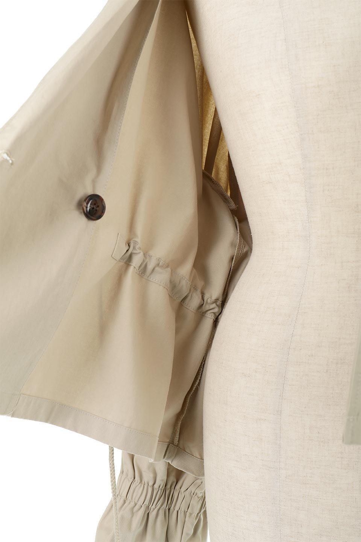 WaistTieShortTrenchJacketウエストドロスト・ショートトレンチ大人カジュアルに最適な海外ファッションのothers(その他インポートアイテム)のトップスやシャツ・ブラウス。ボリューミーな袖とコンパクトな丈感が好バランスなデザインのショートトレンチジャケット。肩線を落としたショルダーや抜き襟でゆったり羽織れるラフなシルエットが今年顔。/main-25