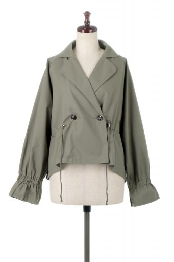 海外ファッションや大人カジュアルに最適なインポートセレクトアイテムのWaist Tie Short Trench Jacket ウエストドロスト・ショートトレンチ