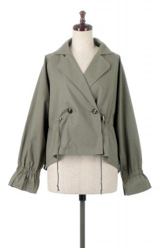 Waist Tie Short Trench Jacket ウエストドロスト・ショートトレンチ / 大人カジュアルに最適な海外ファッションが得意な福島市のセレクトショップbloom