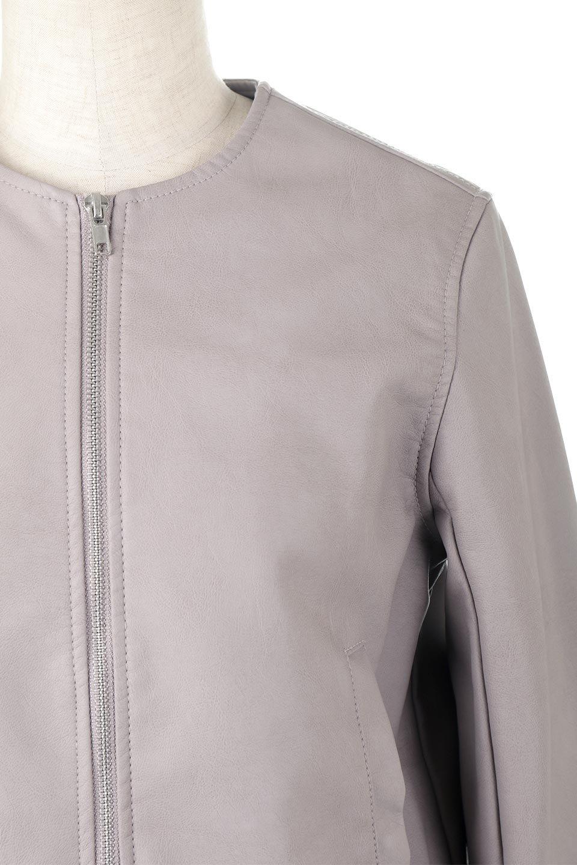 EcoLeatherCollarlessBikerJacketエコレザー・ノーカラーライダースジャケット大人カジュアルに最適な海外ファッションのothers(その他インポートアイテム)のアウターやジャケット。ノーカラーで春でもすっきり着こなせるシンプルなライダースジャケット。ワンピース、スカートなど様々なアイテムとのコーデが楽しめるオールラウンドなアウターです。/main-11