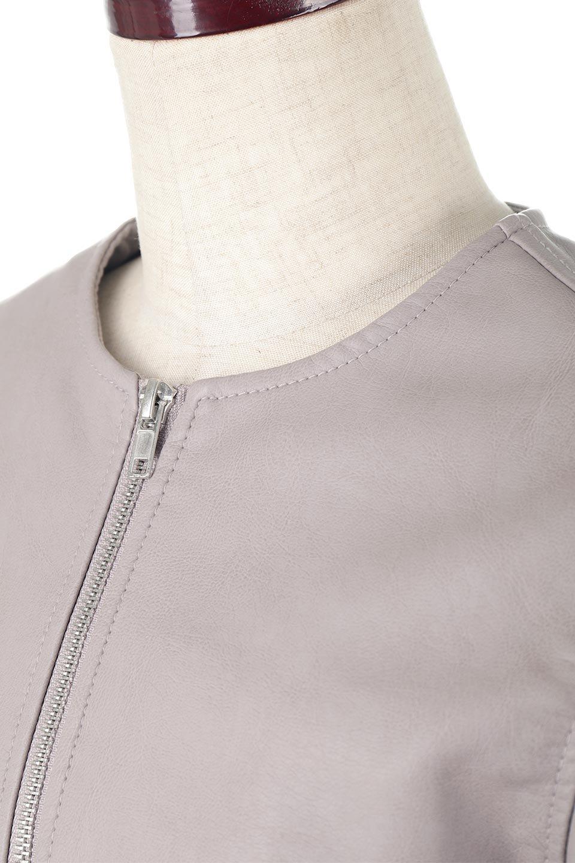EcoLeatherCollarlessBikerJacketエコレザー・ノーカラーライダースジャケット大人カジュアルに最適な海外ファッションのothers(その他インポートアイテム)のアウターやジャケット。ノーカラーで春でもすっきり着こなせるシンプルなライダースジャケット。ワンピース、スカートなど様々なアイテムとのコーデが楽しめるオールラウンドなアウターです。/main-12